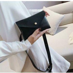 BLACK Snakeskin Shoulder Belt Fanny Bag New